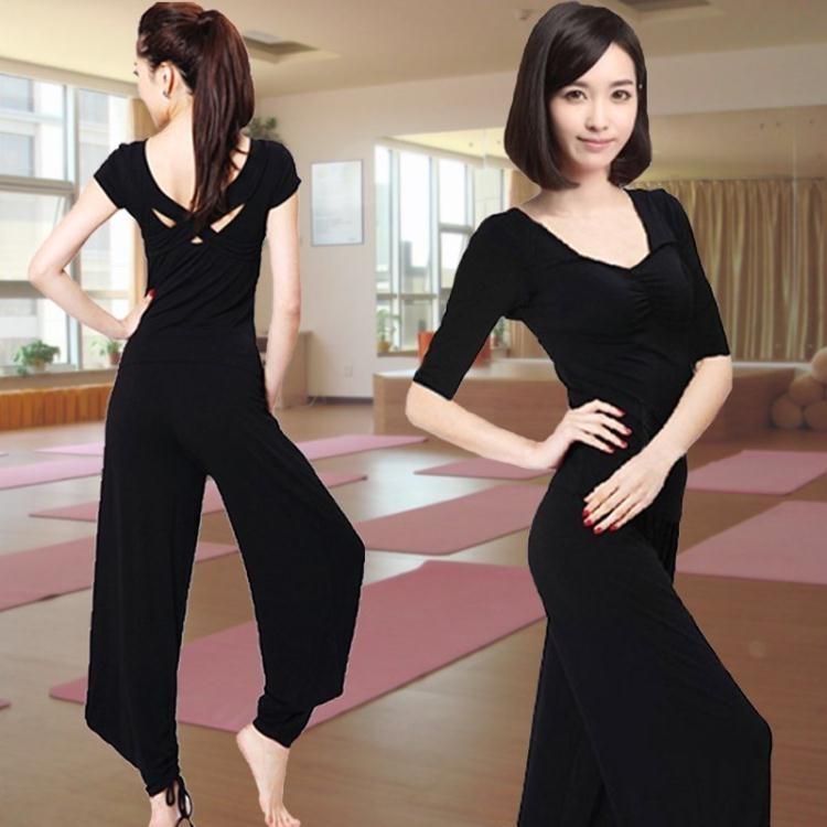 瑜伽服套裝女寬鬆專用瑜珈服燈籠褲長袖莫代爾ღ部落男裝ღ