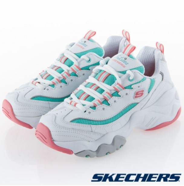 SKECHERS D Lites 3.0 女款休閒鞋 白綠-NO.12954WPMT