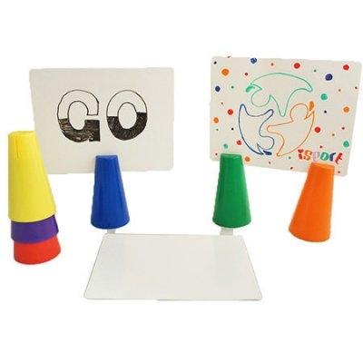 ISPORT台灣製體能教具夾紙角錐感覺統合幼兒園教具設備器材WEPLAY