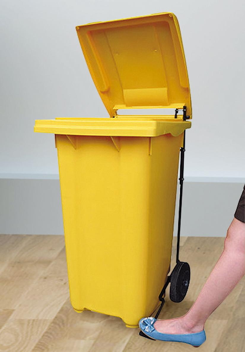 【IS空間美學】腳踏式2輪回收拖桶(120公升)