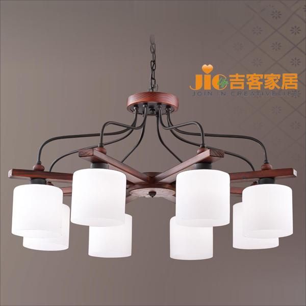 [吉客家居]吊燈- VD-293-931/木製玻璃(吸吊2用)時尚簡約北歐復古工業美式鄉村餐廳吧台民宿咖啡館