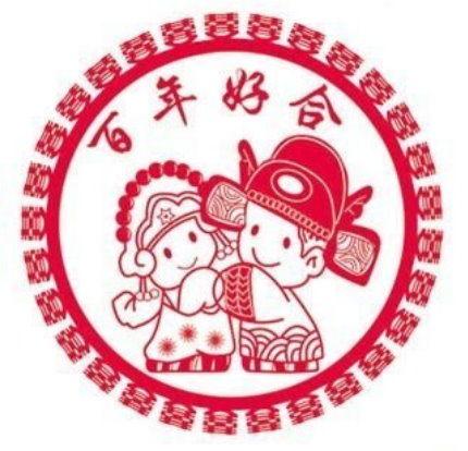 婚禮小物-靜電貼紙~百年好合厚15*15cm張婚禮布置喜糖桌上禮二次進場
