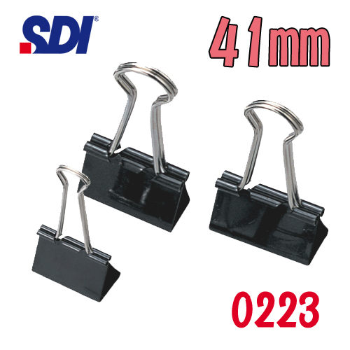 【西瓜籽】 手牌 SDI 黑色長尾夾(41mm) 0223 (12入/盒)