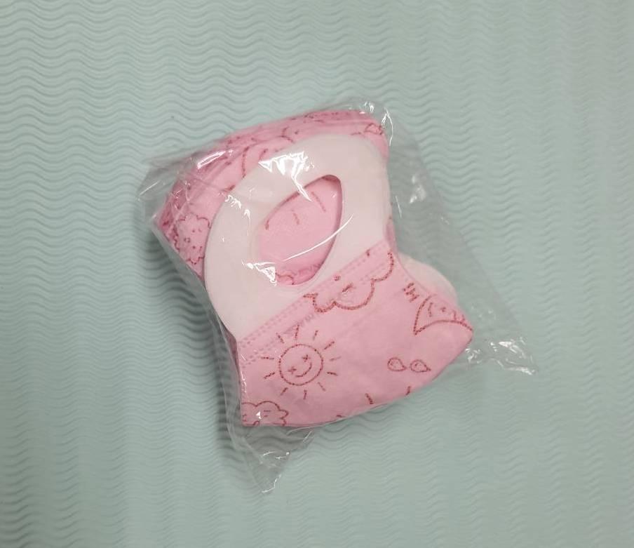 BNN~鼻恩恩醫用3D立體口罩@兒幼童-天空寶寶-粉紅色@ 一盒50片台灣製造 材質佳超好戴 無異味