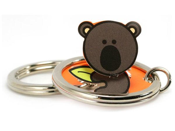 ☆猴子設計☆無尾熊立體鑰匙圈