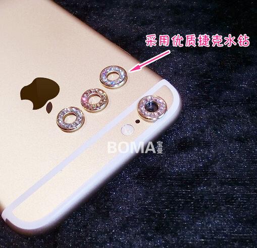 SZ水鑽鏡頭保護圈iPhone 6 plus攝像頭環iPhone 6 4.7手機保護殼鏡頭保護圈水鑽