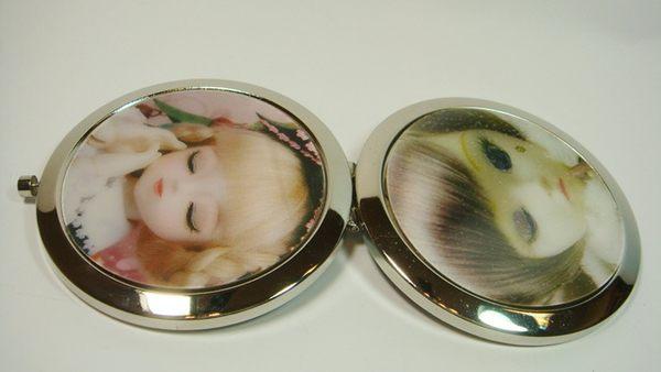圓形雙面鏡3D立體娃娃圖案型三