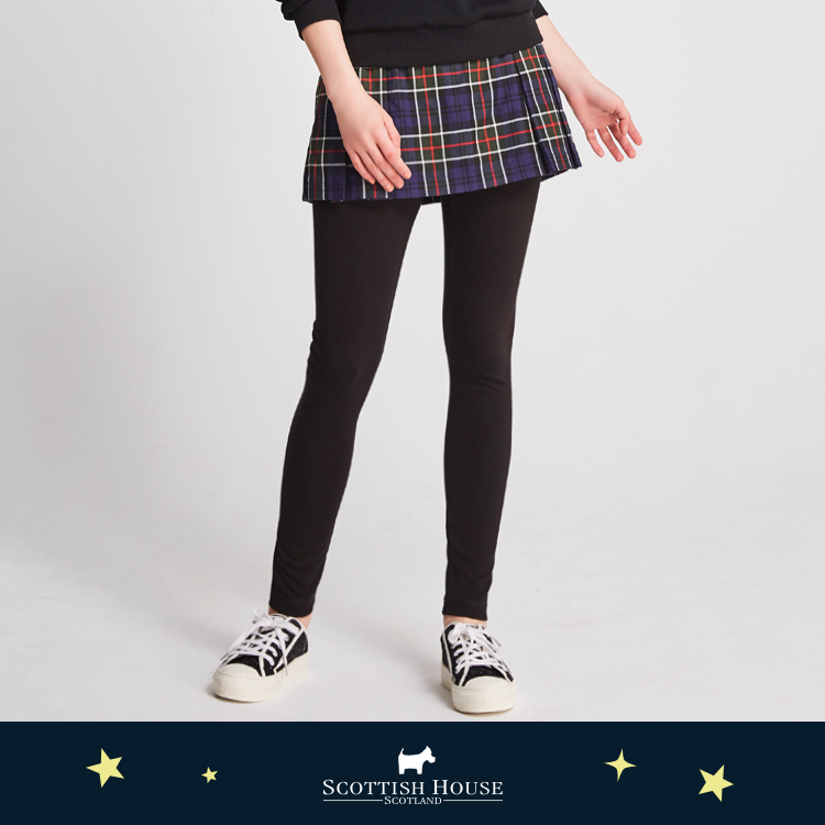 一件式打摺格短裙內搭褲 Scottish House 【AJ2207】