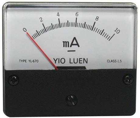 DC10mA 670指針式工業用直流電流錶頭