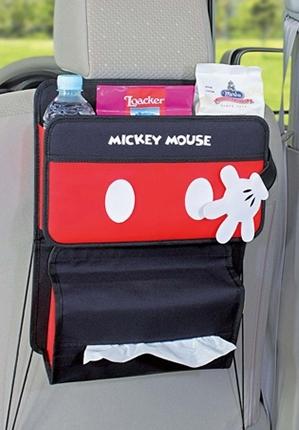 米奇車用置物袋置物架迪士尼置物盒車用飲料架面紙盒車用面紙袋KTWD283
