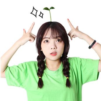 TOUCH-KR SNS 偶像熱潮 豆苗 花朵 植物 搞怪 呆萌 裝可愛 髮夾│隨機出貨(一組3個)│z6934