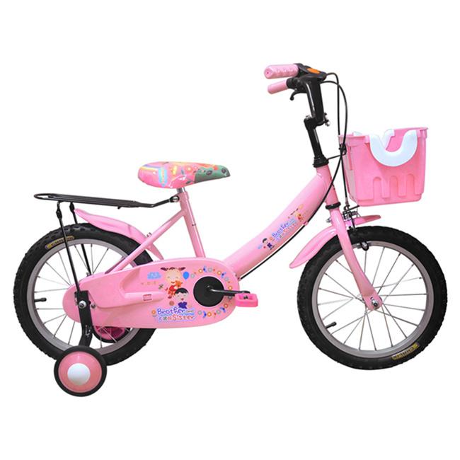 Adagio 16吋大頭妹打氣胎童車附置物籃-粉色(台灣製造)(BEYJ174UP)