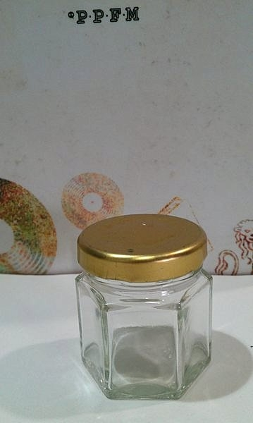45cc六角瓶RP26果醬瓶醬菜瓶六角瓶辣椒瓶XO醬瓶玻璃瓶蜂蜜瓶干貝醬瓶