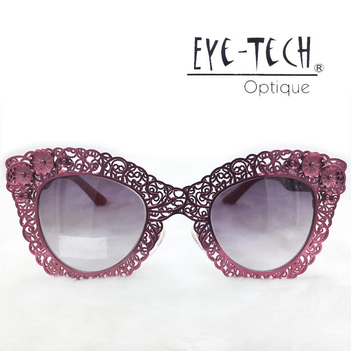 橘子樹眼鏡Eye Tech鏤空花紋立體花太陽眼鏡獨家限量ET3269桃粉抗UV太陽眼鏡日本製