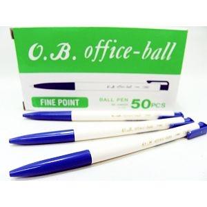 OB 100自動原子筆50入藍