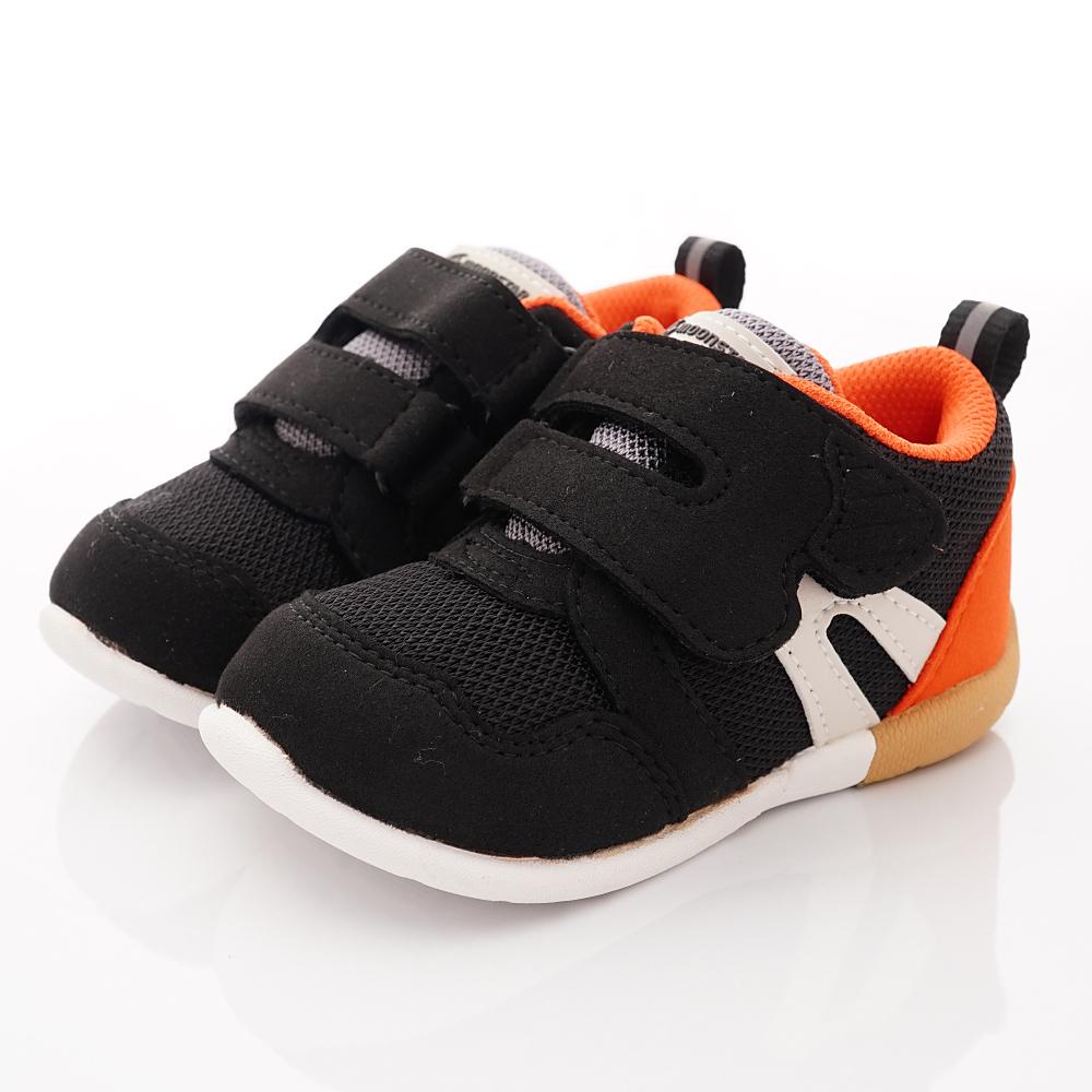日本Moonstar機能童鞋 HI系列3E學步款 1112黑(寶寶段)