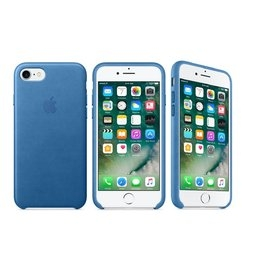 蘋果Apple iPhone 7 Plus原廠皮革護套冰海藍色全新公司貨保護殼背蓋皮套