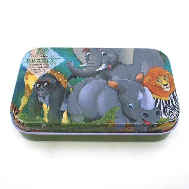 木質拼圖森林動物鐵盒裝60片