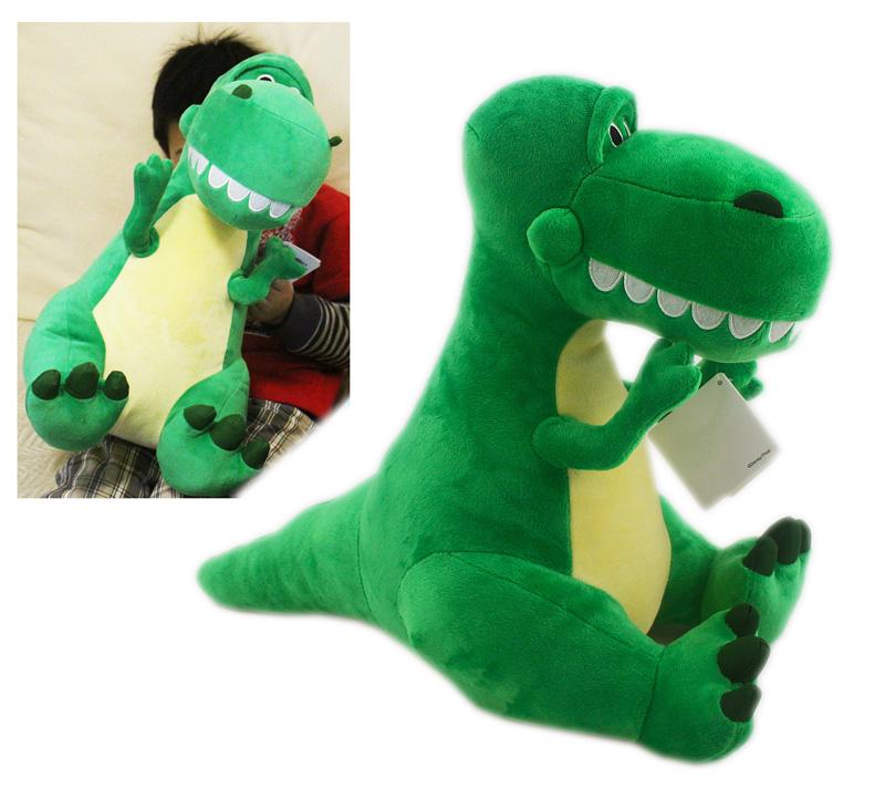 【卡漫城】 抱抱龍 玩偶 46cm 絨毛 ㊣版 Toy Story 玩具總動員 Rex 暴龍 裝飾 擺飾 娃娃 布偶 恐龍