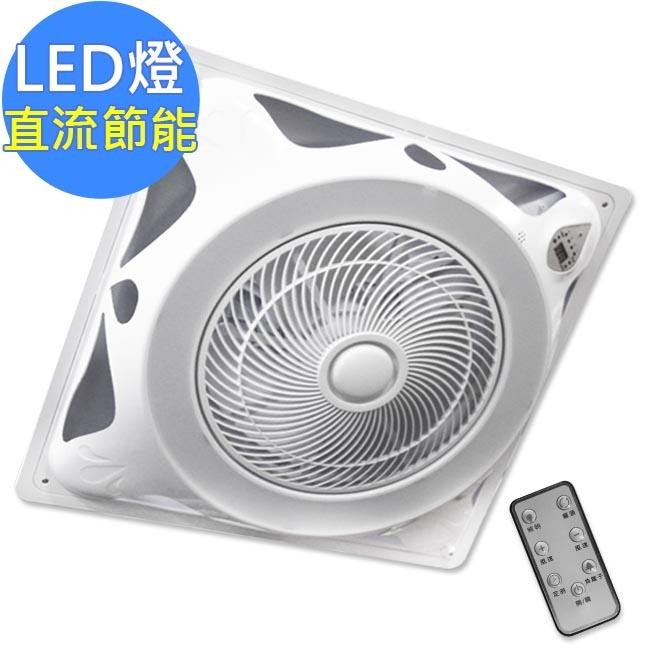 勳風全遙控負離子14吋DC變頻LED燈罩頂上循環扇HF-B7996 DC