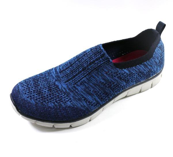 陽光樂活SKECHERS女運動系列EMPIRE ROUND UP編織鞋面12419NVBL深藍
