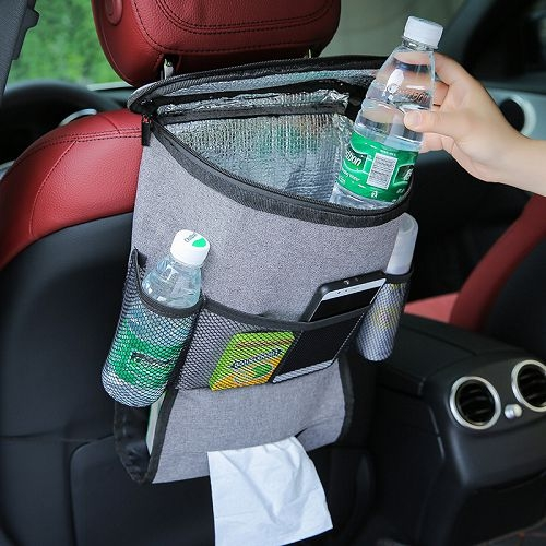 汽車多功能椅背置物袋 車用保溫包 保冰包 椅背袋 紙巾收納袋