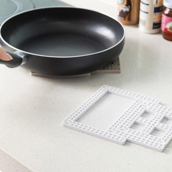 MY COLOR創意方格可摺疊桌墊隔熱杯墊桌墊碗墊鍋墊廚房桌面煲湯餐桌居家J53-1