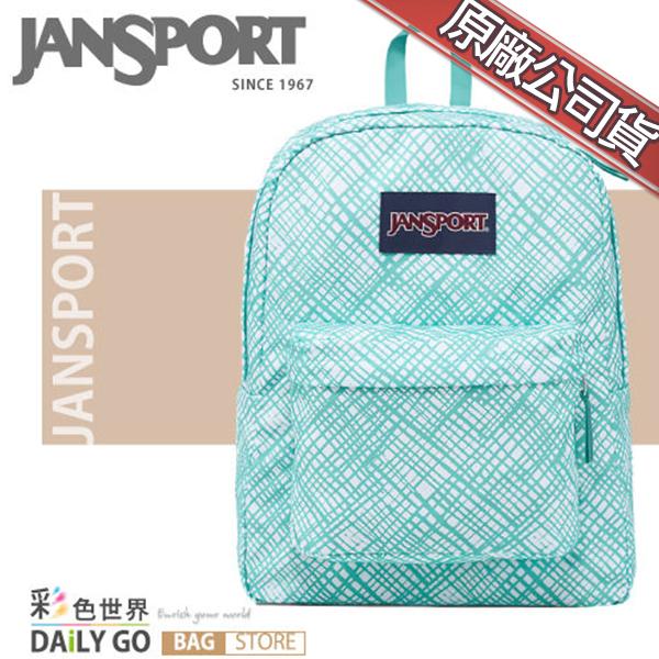 JANSPORT後背包包大容量筆電包韓版帆布包防潑水學生書包彩色世界43501-0JJ