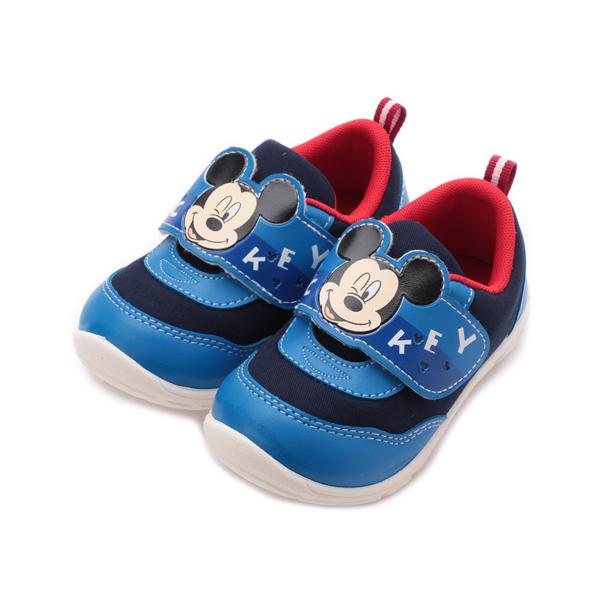 DISNEY 米奇雙色寶寶鞋 藍 中小童鞋 鞋全家福