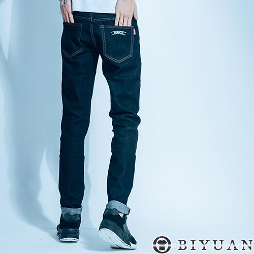專櫃彈性牛仔褲P2016 OBI YUAN高規原色單寧布料口袋貼布素面休閒褲