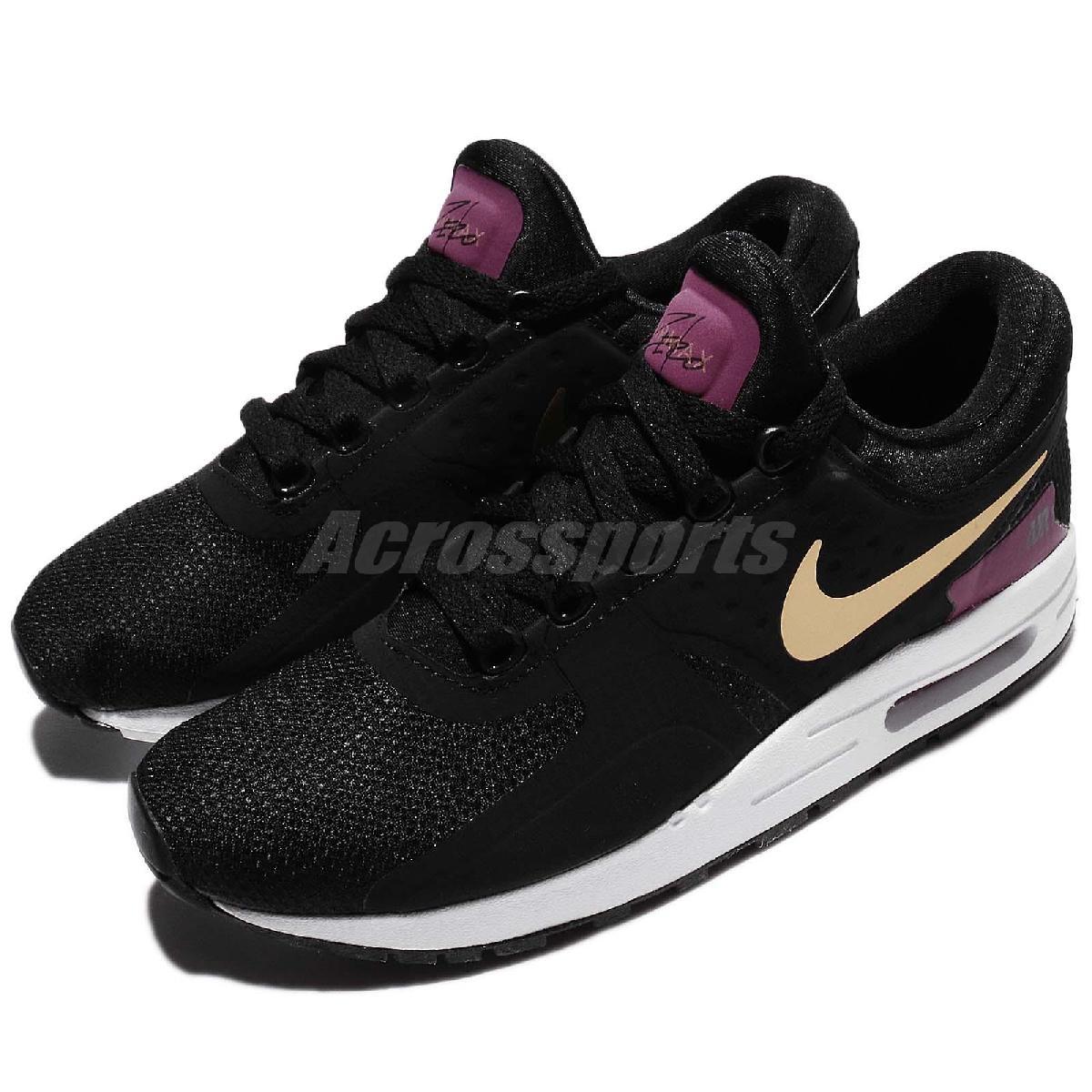 Nike休閒慢跑鞋Air Max Zero Essential GS黑金氣墊運動鞋基本款大童鞋女鞋PUMP306 881229-007