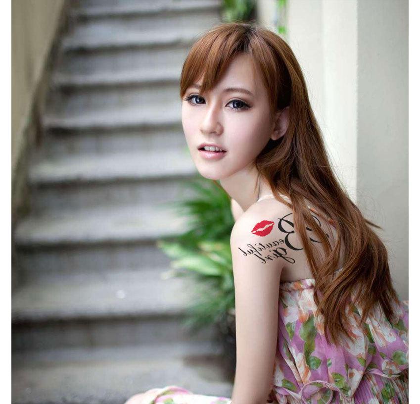 唇印紋身貼紙夏天海邊紋身刺青夏日可愛紋身貼紙多款水轉印紋身貼紙0022