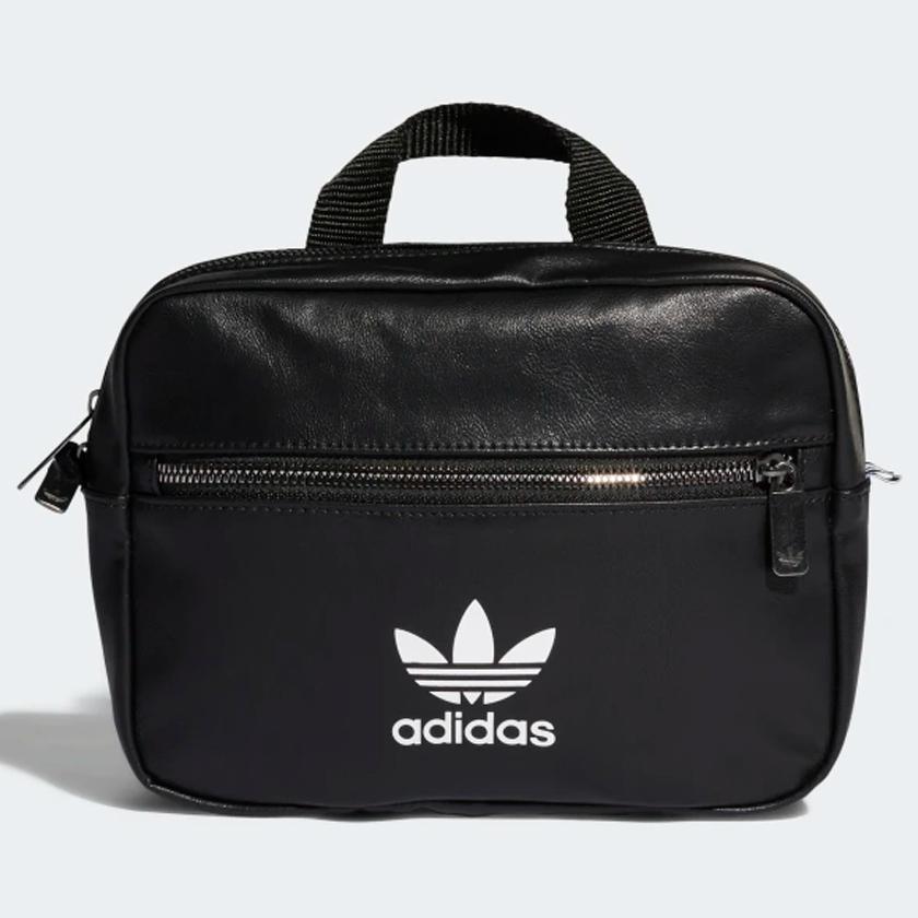 ★現貨在庫★ Adidas MINI AIRLINER 背包 手提包 休閒 潮流 皮革 黑 【運動世界】ED5880