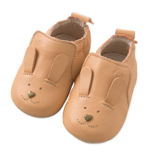 真皮鞋Dave Bella小童兔子臉真皮學步鞋寶寶鞋嬰兒鞋鞋子駱駝色DB5543-B