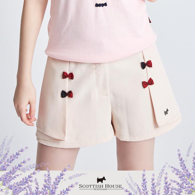 素面變化打褶短褲 Scottish House【AI2258】