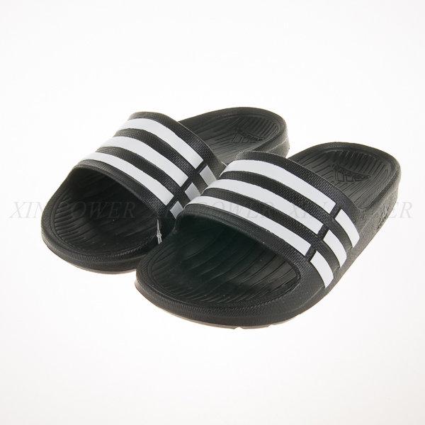 Adidas~Duramo Side 系列兒童舒適拖鞋(黑) (G06799)