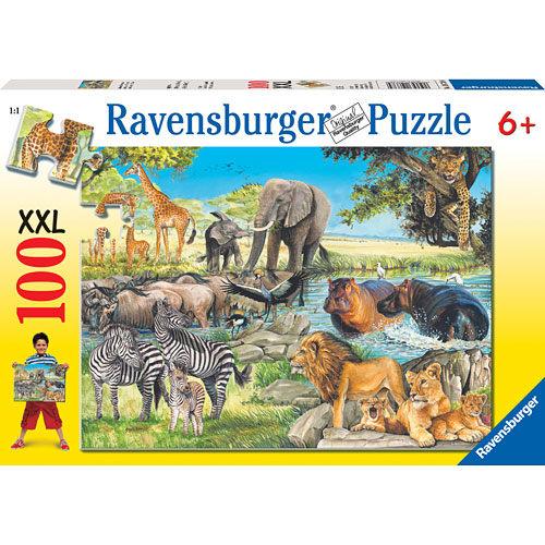 Ravensburger維寶100片拼圖-非洲草原