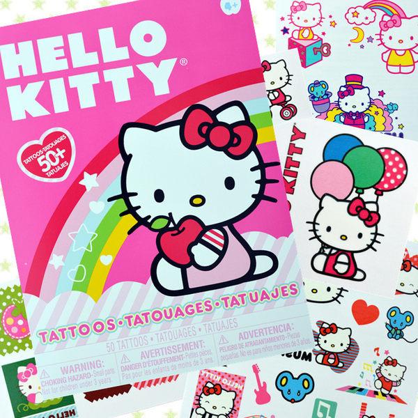 丁果紋身貼紙Hello Kitty汽車總動員凱蒂貓防水刺青貼紙