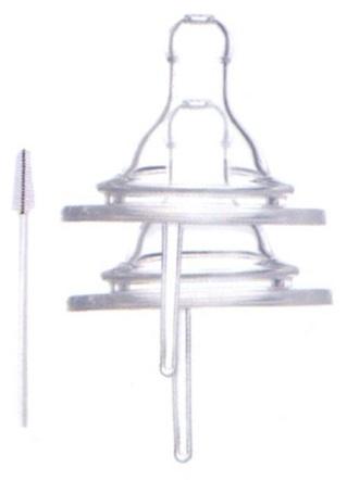 寬口徑(2入)  雙向透氣防脹十字奶嘴(S) D-1325