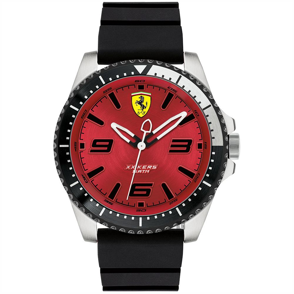 Scuderia Ferrari 法拉利 XX KERS 競速手錶-紅x黑/45mm 0830463
