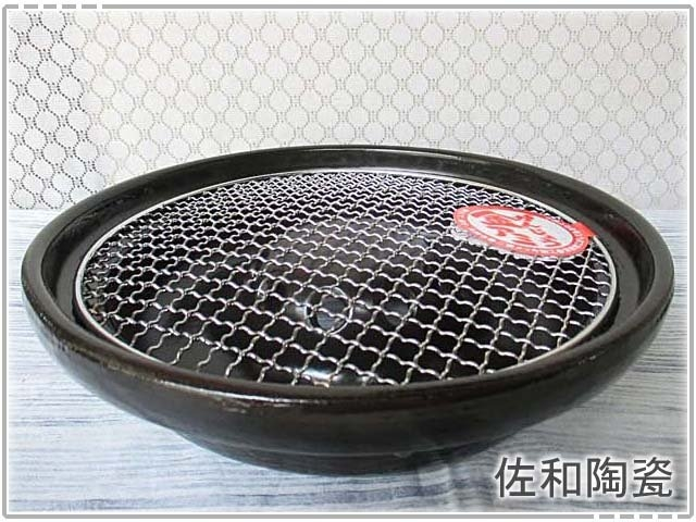 佐和陶瓷餐具~XL05081-2四日市耐熱烤爐-日本製BBQ烤盤煎盤石板烤肉燒烤