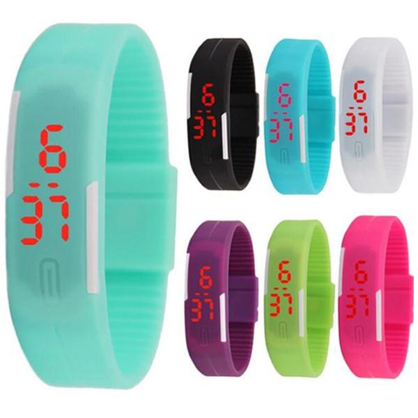 Mini style繽紛樂手環錶手錶果凍錶LED運動輕防水韓版潮流女錶男錶對錶兒童錶糖果色