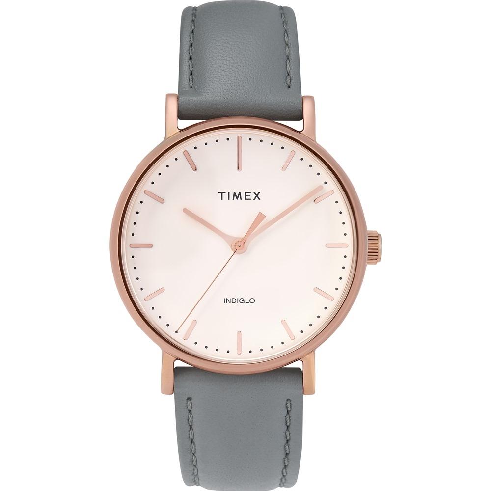 【TIMEX】天美時 復刻系列 簡約復古手錶  (灰/玫瑰金TXTW2T31800)