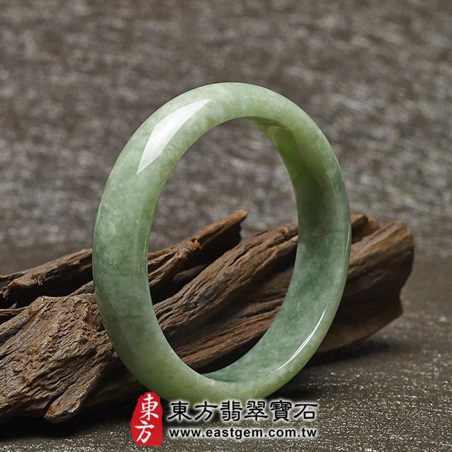 豆種手鐲豆種玉鐲豆種翡翠手鐲淺綠色玉鐲手鐲些微透光圓鐲18.5 BE014