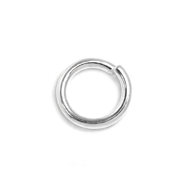 925純銀配件-8.0mm開口圈/C圈/跳環-10個