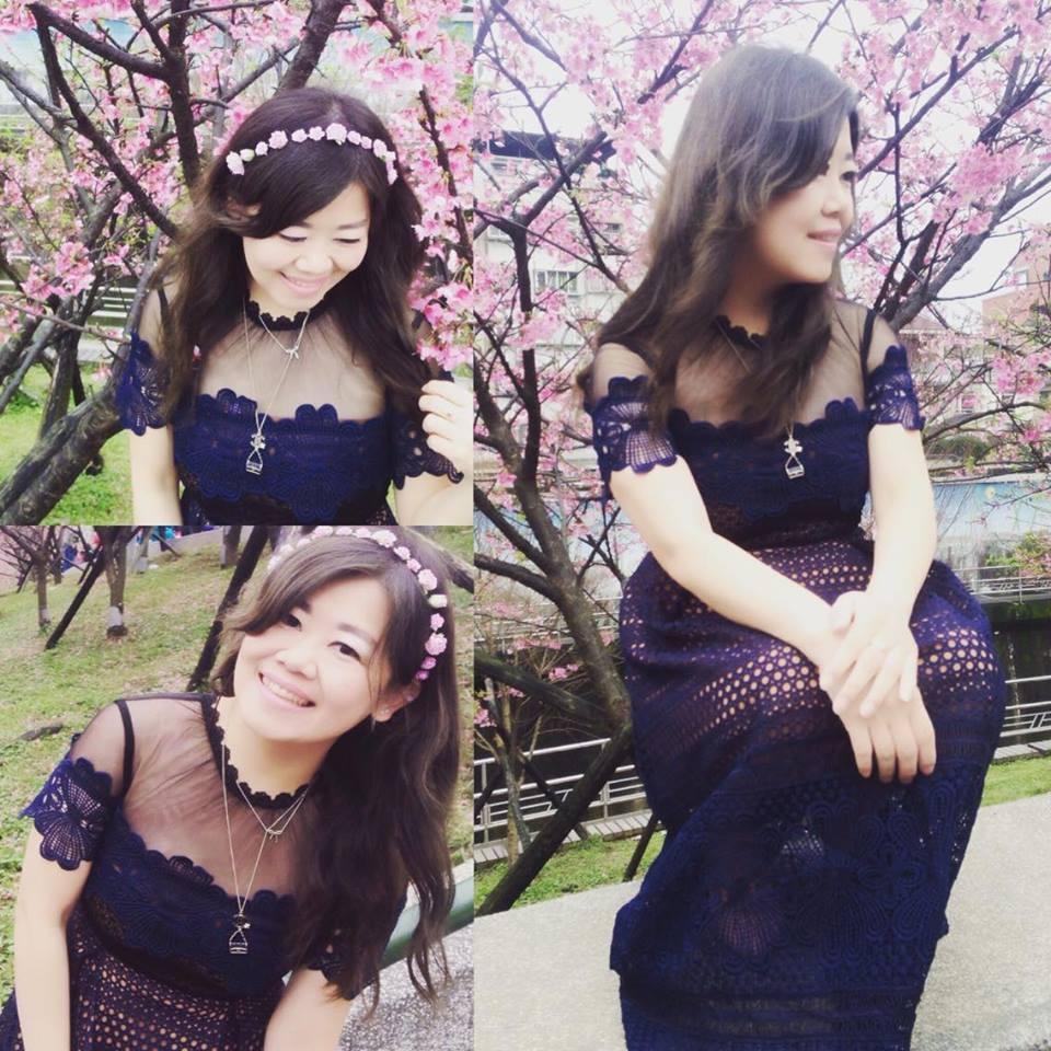 正韓設計款高質感高磅數挺版蕾絲透膚顯瘦小禮服短袖連身裙S M Made in Korea名人明星最愛新款