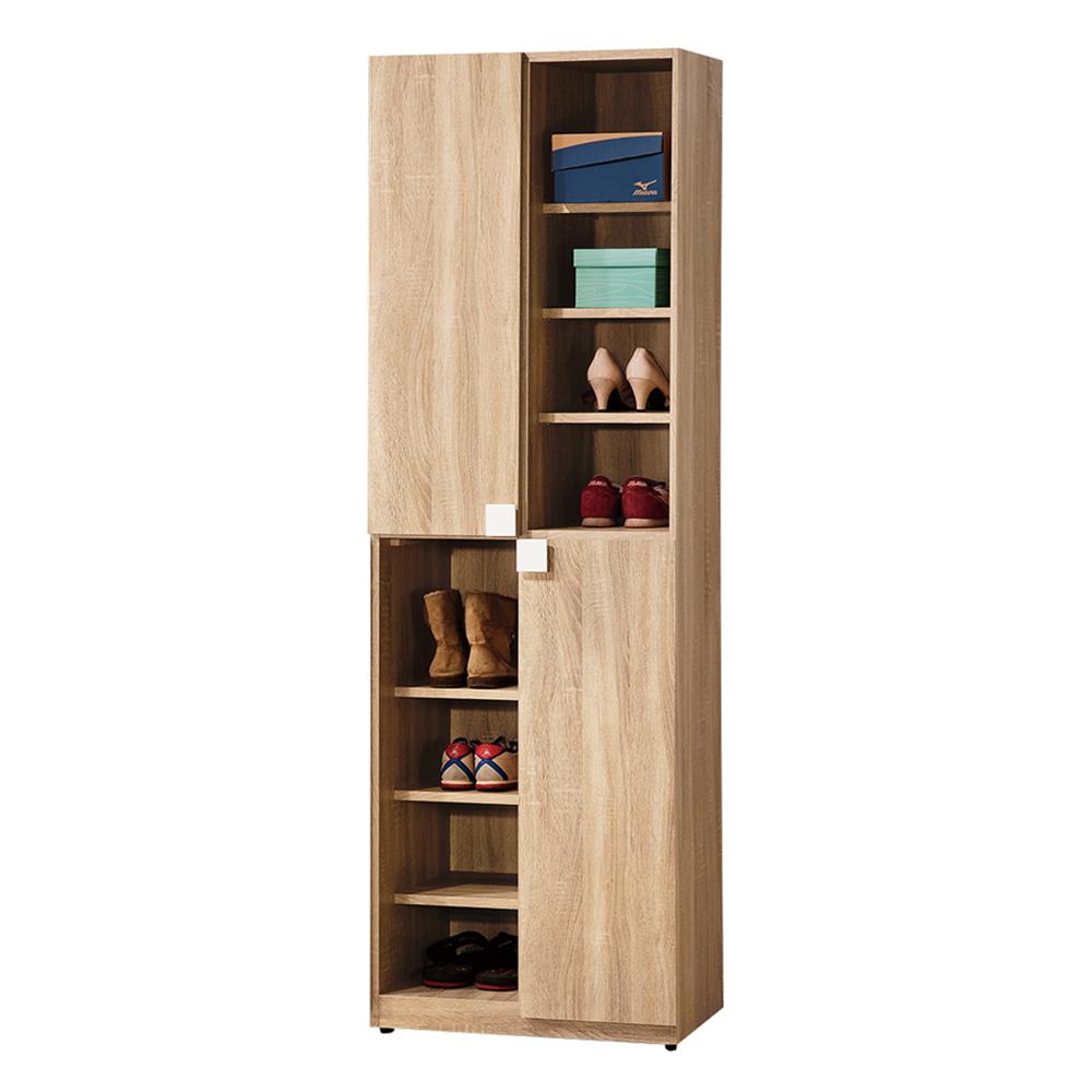【森可家居】多莉絲2尺二門收納櫃 (單只-編號3) 6ZX767-4 鞋櫃 木紋質感 北歐 無印風 廚房餐櫃