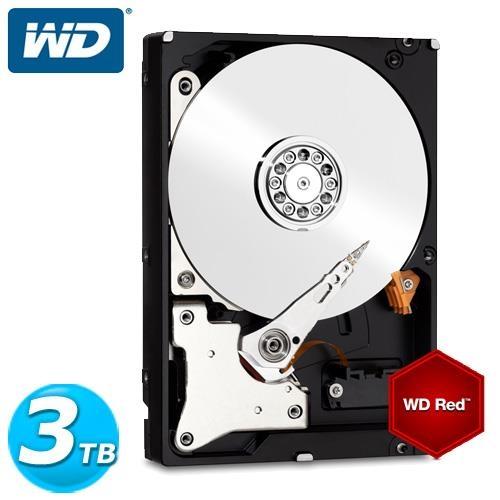WD紅標3.5吋3TB SATA3 NAS專用內接硬碟30EFRX