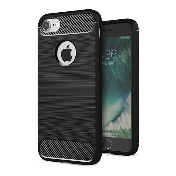 (現貨) iphone7/plus 碳纖維 純色 簡約 手機殼 手機套 軟殼 【娜娜香水美妝】