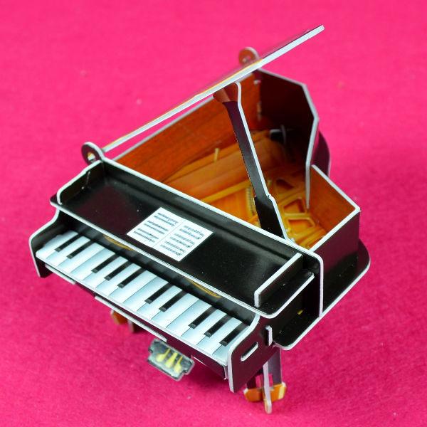 佳廷家庭親子DIY紙模型3D立體拼圖贈品獎勵品專賣店天籟之音樂器袋裝樂器1鋼琴Calebou卡樂保